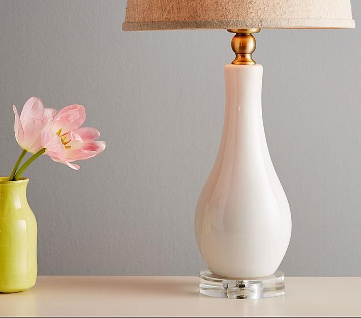 Blush Ceramic Bottle Lamp Base