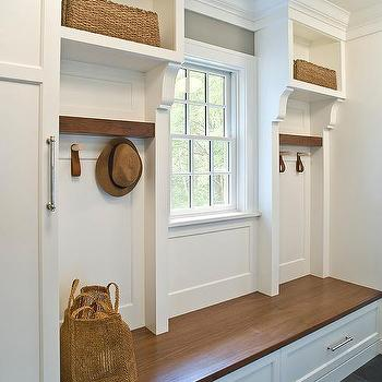 Wood Mudroom Bench With Drawers