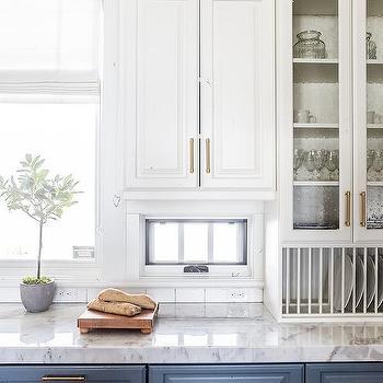Small Window Under Upper Cabinets Design Ideas