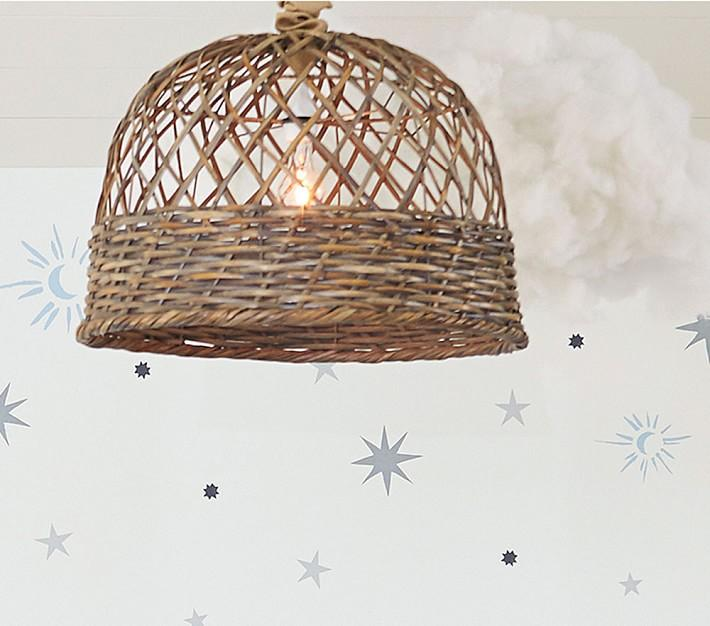 Rattan Woven Hanging Lamp I Horchow