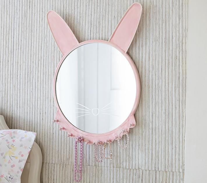 Good Hare Day White Wall Mirror In Mirrors