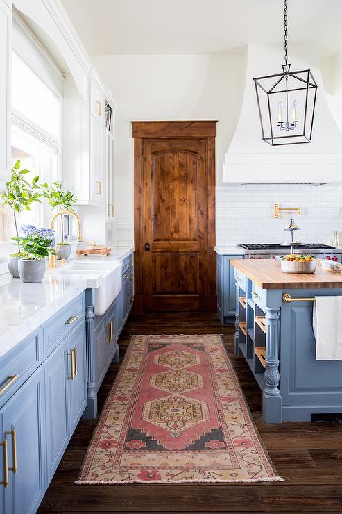 Blue Lower Kitchen Cabinets - Transitional - Kitchen ...