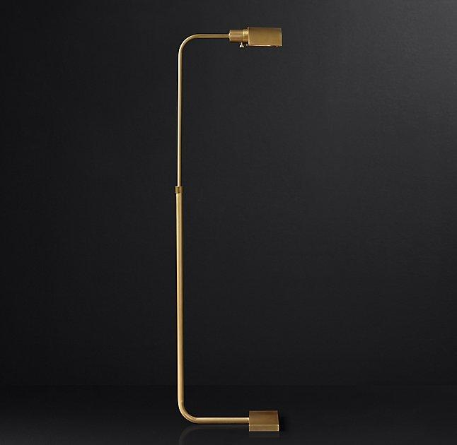 Curved brass task floor lamp bryce curved brass task floor lamp mozeypictures