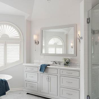 White Dove Cabinets Traditional Bathroom Benjamin