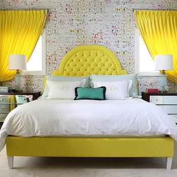 Lemon Yellow Bed Design Ideas