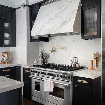 Marble Clad Kitchen Vent Hood