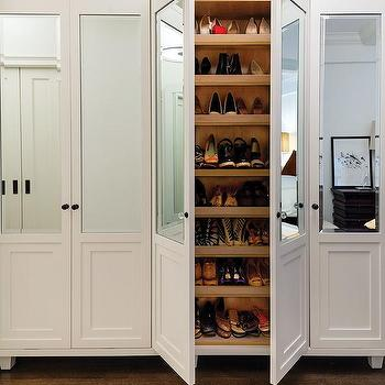 Mirrored Shoe Cabinets Design Ideas - Shoe cabinets design ideas