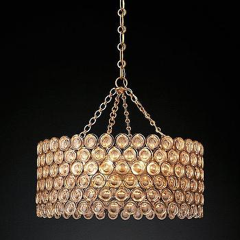 Medium Crown Leather Whisper Chandelier