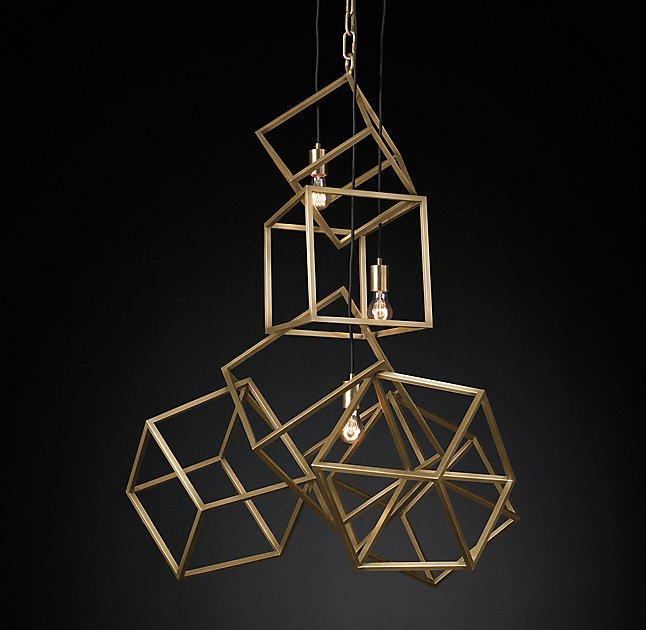 Euclidean Geometrical Brass Cage Pendant