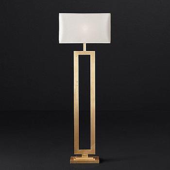 Brass rectangular floor lamp products bookmarks design clarke open brass rectangle floor lamp aloadofball Gallery