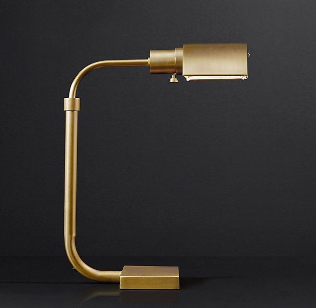 Bryce Gold Industrial Task Table Lamp