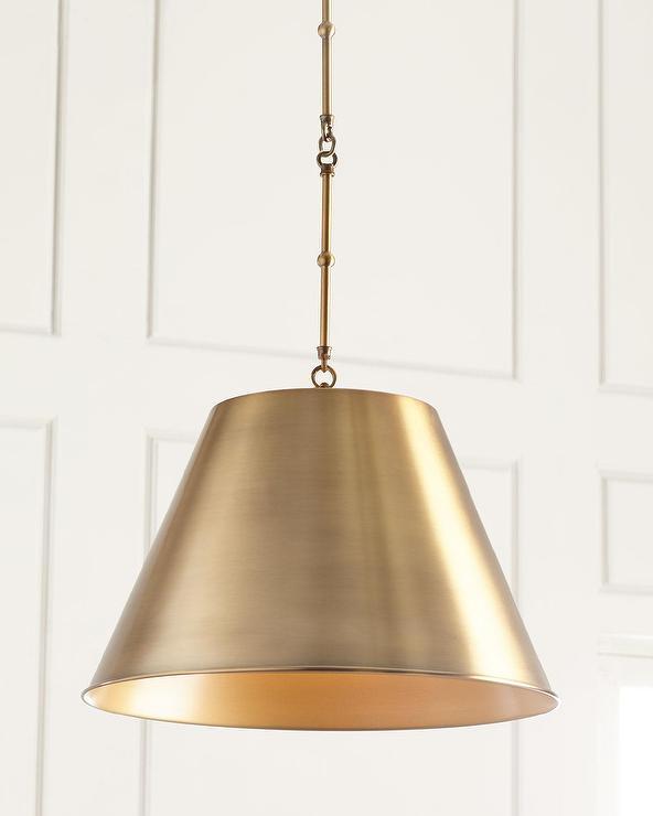 Aiden Cone Gold Metal Pendant