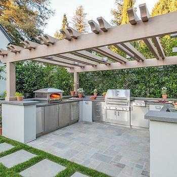 outdoor kitchen designs with pergolas. U Shaped Outdoor Kitchen Design Ideas