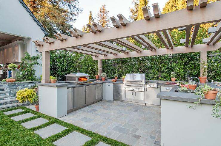 Malibu Blue Spanish Outdoor Bar Tiles Transitional