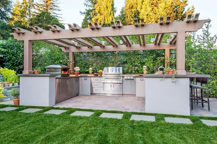 outdoor kitchen pergola simple outdoor kitchen with pergola