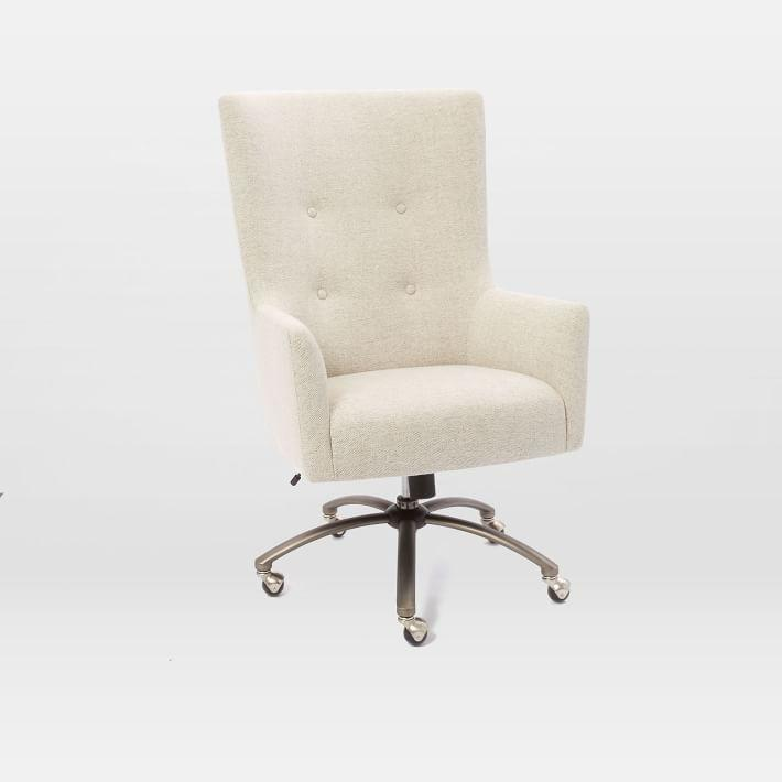 Surprising Dunaway White Leather Tufted Swivel Chair Ocoug Best Dining Table And Chair Ideas Images Ocougorg