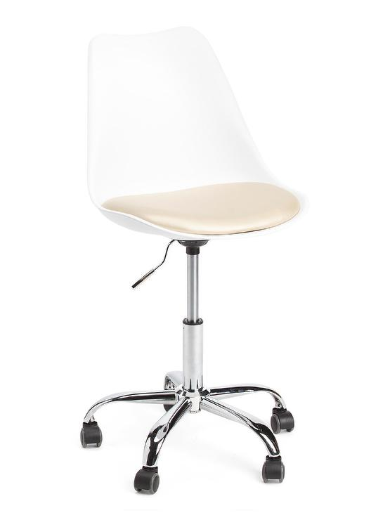 gibbons white metal rolling office chair - Rolling Chair