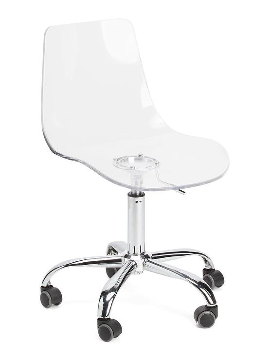 Phenomenal Acrylic Metal Rolling Office Chair Alphanode Cool Chair Designs And Ideas Alphanodeonline