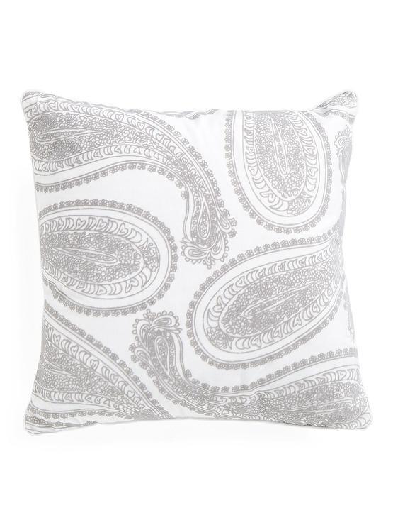Well-liked Square Gray Paisley Velvet Pillow QA11