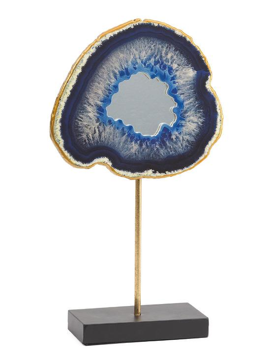 Blue Agate Gold Stand Decor