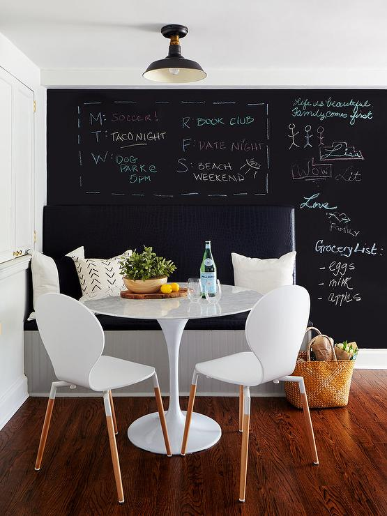 Black Dining Bench On Black Wall
