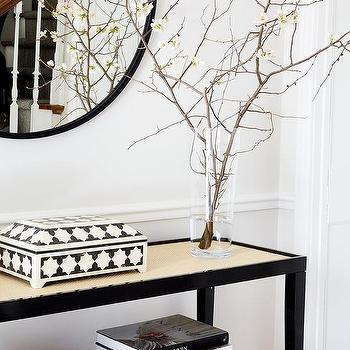 Black And White Foyer Color Scheme