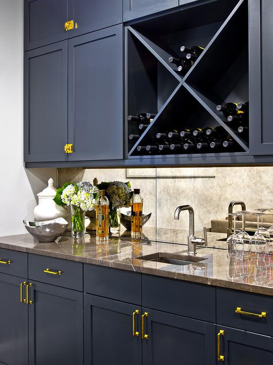 Navy Kitchen Cabinets Contemporary Kitchen Benjamin