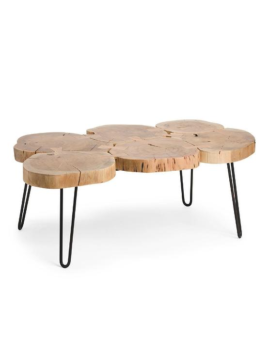 Excellent Natural Trunk Metal Coffee Table Home Interior And Landscaping Eliaenasavecom