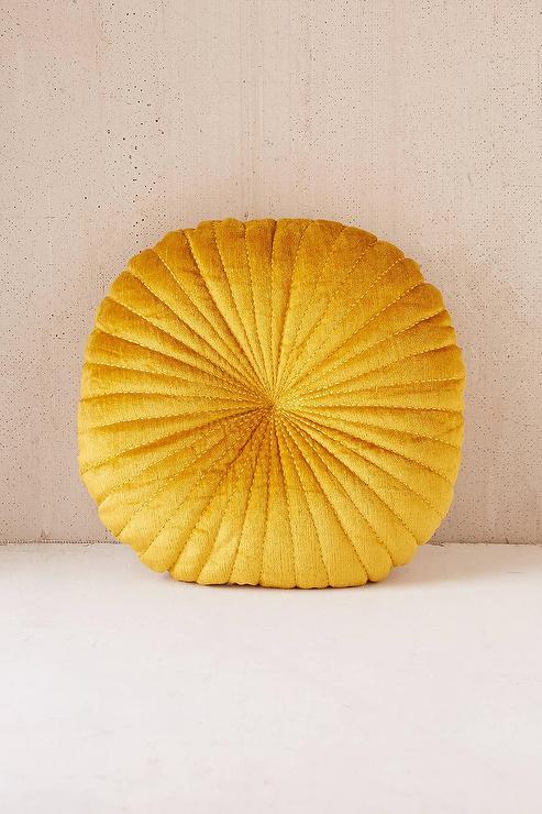 Metallic Leather Love Gold Pillow