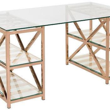 huge discount f07da 96692 Glass Rose Gold Desk - Products, bookmarks, design ...