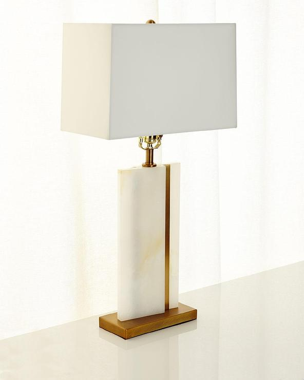 Arteriors farrell white onyx brass table lamp mozeypictures