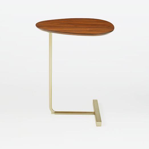 Grey Finish Portside C Side Table
