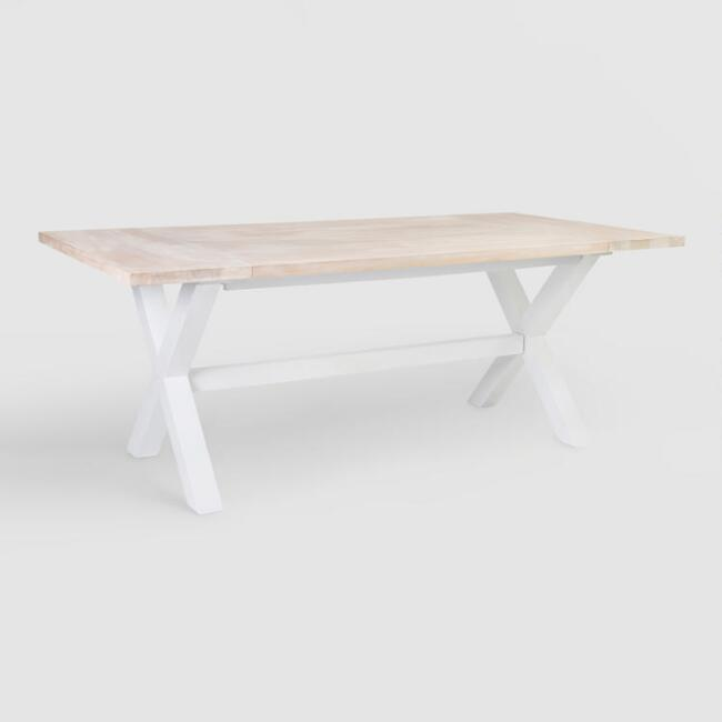 Orrin White Wood X Frame Dining Table