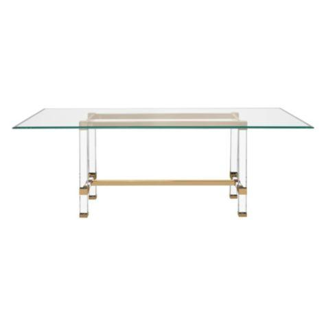 Savoy Acrylic Gold Glass Dining Table