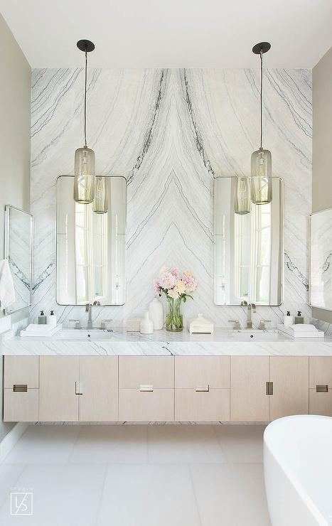 Cabinet Between Bathroom Sinks Design Ideas