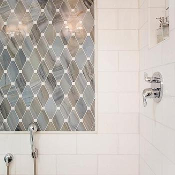 Gray Subway Tile Modern Bathroom Niche Interiors
