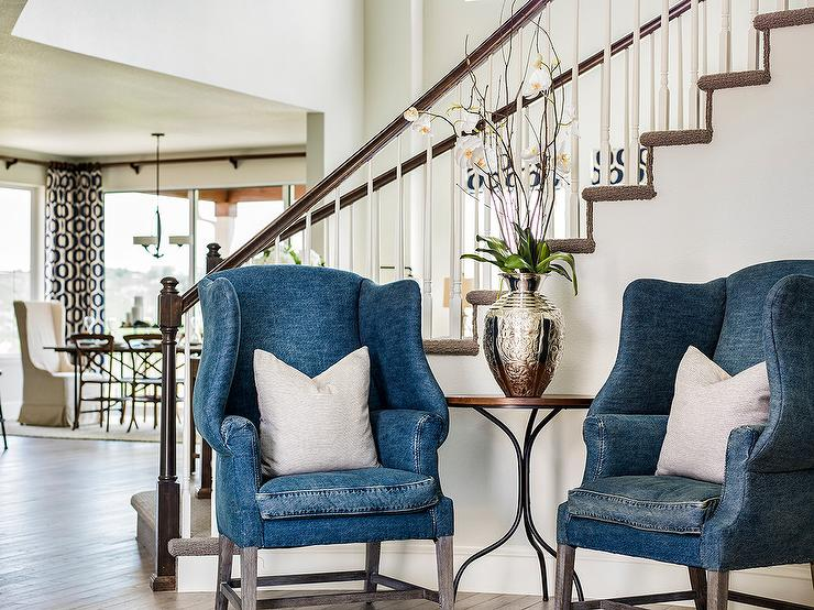 Foyer Wing Chair : Entrance foyer design decor photos pictures ideas