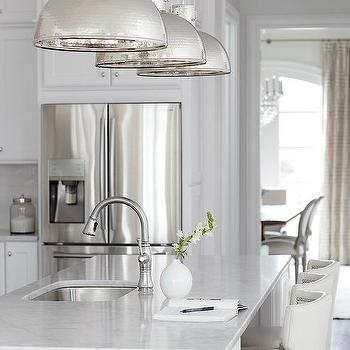 White island with stained oak floors transitional kitchen - Kitchen island decorative trim ...