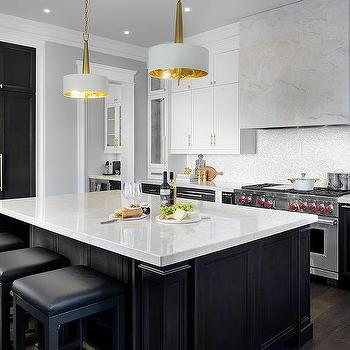 kitchen white upper cabinets dark lower