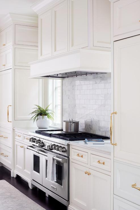 White Wainscoting Kitchen Cabinets White Wainscoting in Kitchen Vent Hood   Transitional   Kitchen