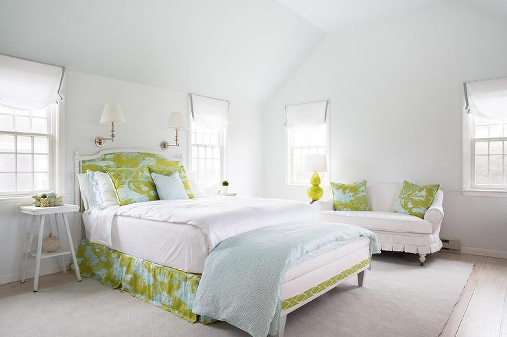 Blue And White Toile Bedroom: Green And Blue Bedrooms