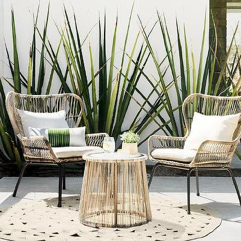 Latigo 3 Piece Rattan Patio Set