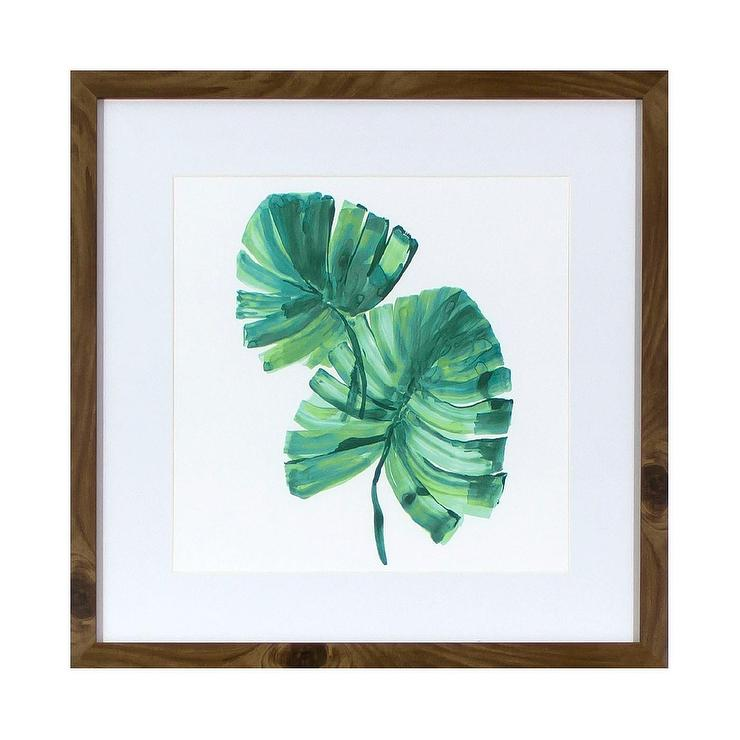 Palm Leaves Wood Framed Wall Art
