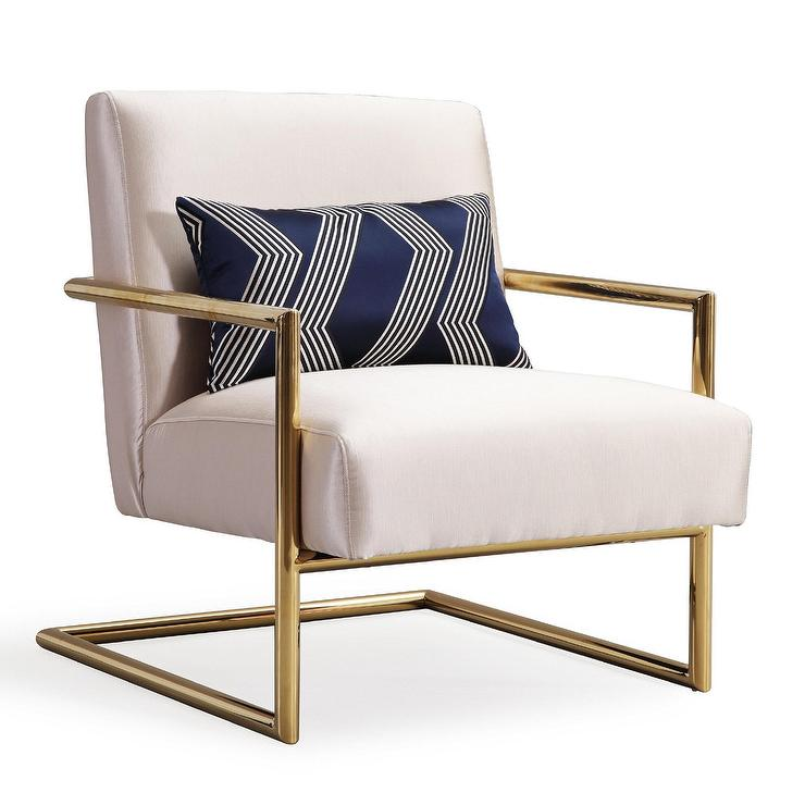 Super Elle Beige Gold Linen Accent Chair Andrewgaddart Wooden Chair Designs For Living Room Andrewgaddartcom