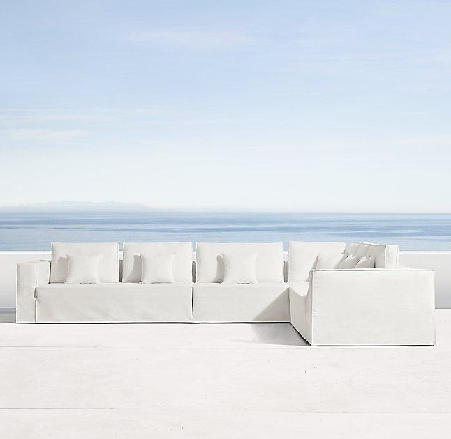 Astonishing Espanto White Slipcovered Customizable Sectional Alphanode Cool Chair Designs And Ideas Alphanodeonline