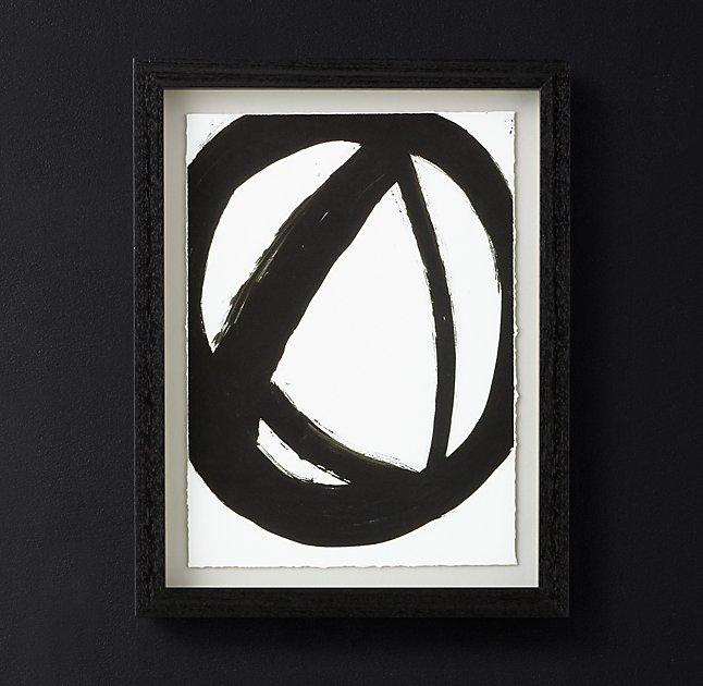 black white circle framed art