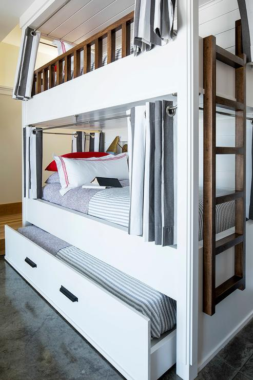 Catalina Stair Gray Loft Bunk Bed