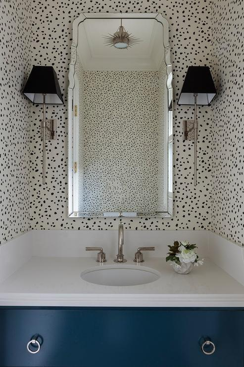 Bathrooms Thibaut Tanzania Wallpaper Black On Cream Design Ideas