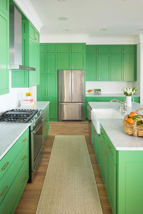 Kitchen Island Green kelly green kitchen island design ideas