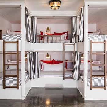 Gray Grommet Bunk Bed Curtains, Loft Bed Curtains Boy